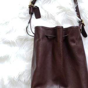Coach Vintage Chocolate Brown Leather Bucket Bag